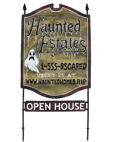 Haunted real estate sign