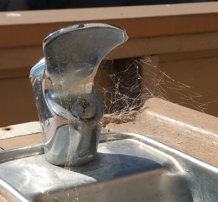 Water fountain closeup
